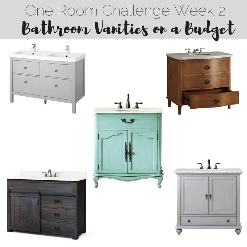 One Room Challenge Week Bathroom Vanities On A Budget RR At Home - One week bathroom