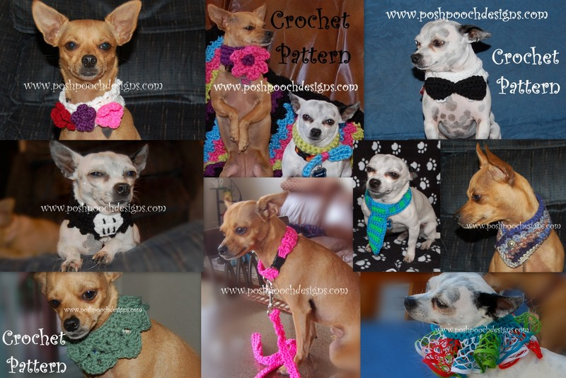 Posh Pooch Designs Dog Clothes Crochet Dog Collars For All Occasions