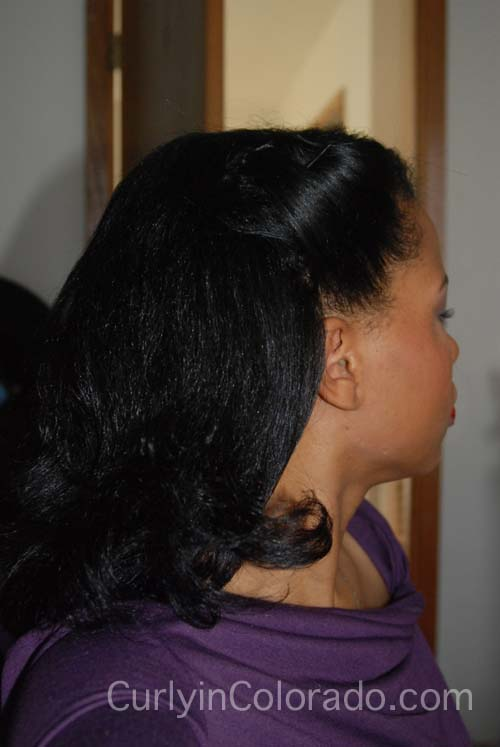 Finally APL and Holiday Hair Styles - Curly in Colorado