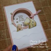 A Little Wild Blushing Bride Baby Bear Card