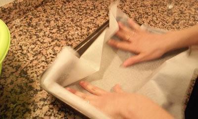 ponemos papel de hornear