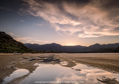 Beach Abel Tasman National Park Great Walk Awaroa Sunset