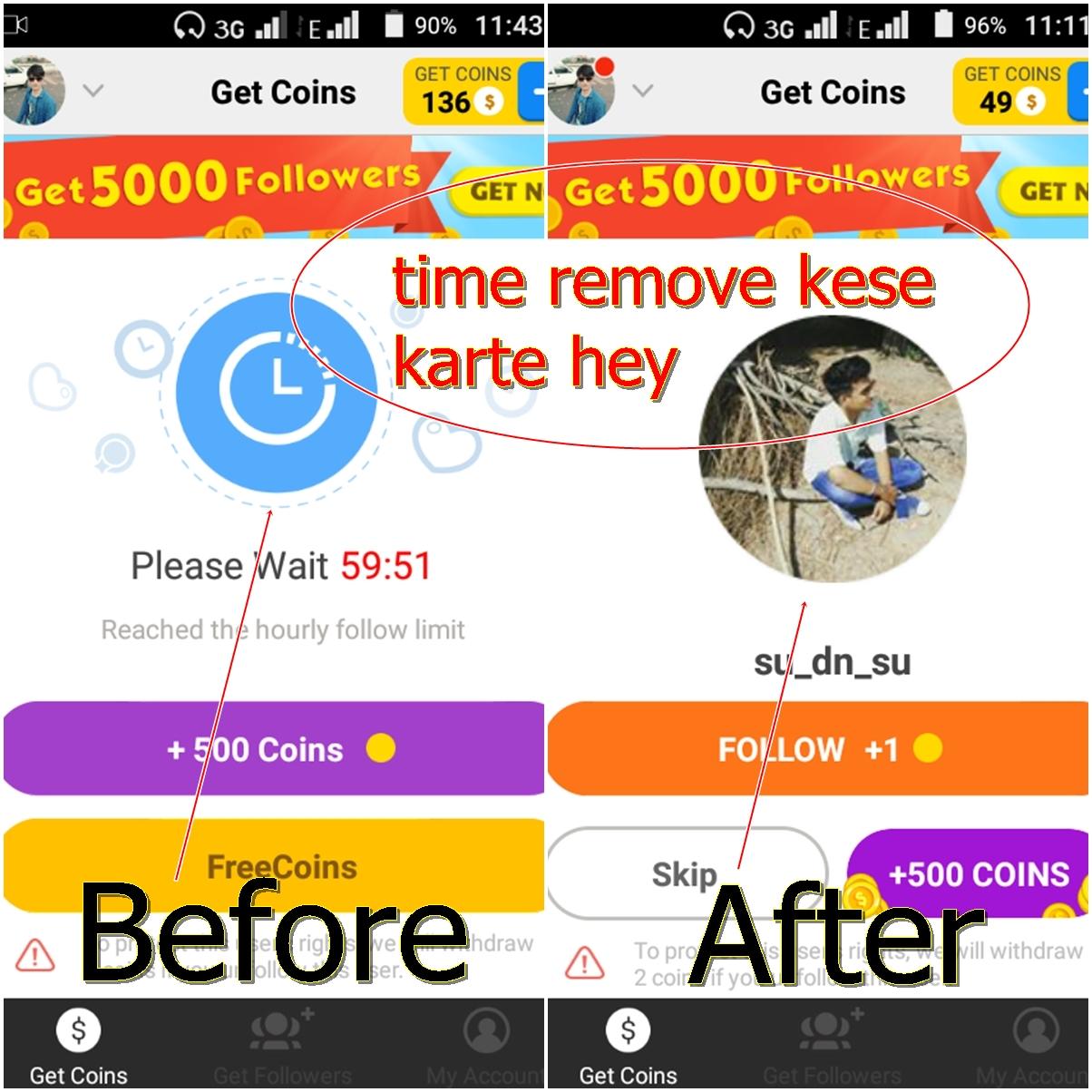 How to get followere andoriad app 60 minitue time hack 2017 tricks