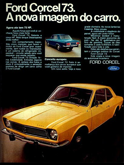 Ford.  brazilian advertising cars in the 70s; os anos 70; história da década de 70; Brazil in the 70s; propaganda carros anos 70; Oswaldo Hernandez;