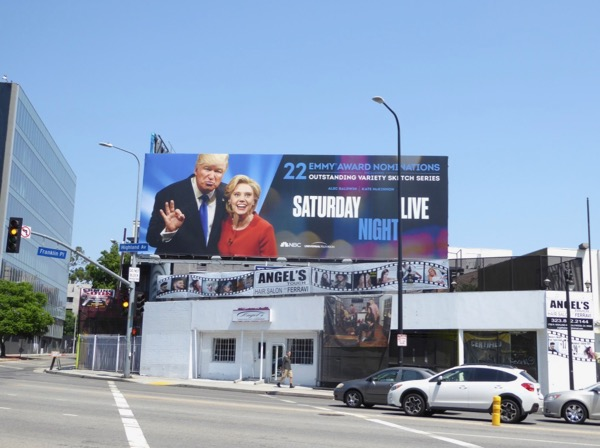 SNL Trump Clinton 22 Emmy noms billboard