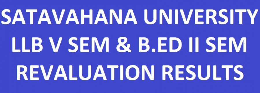 Satavahana University Revaluation Results
