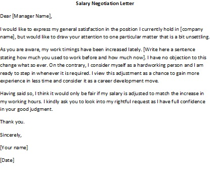 salary negotiation letter | salary negotiation letter sample