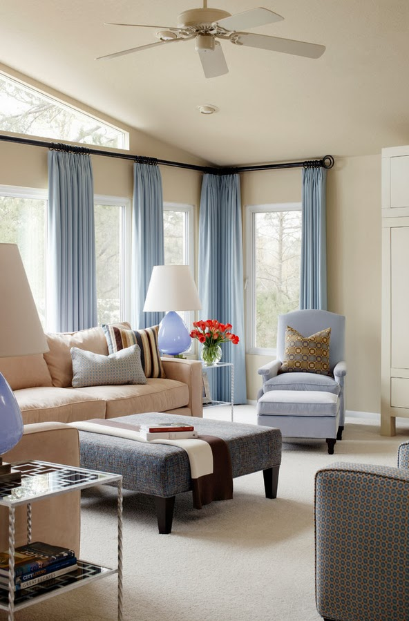 Living Room blue brown Family room Pinterest Living room blue