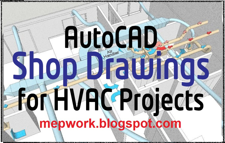 HVAC Shop Drawings for Compound School Project - AutoCAD dwg