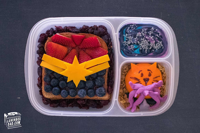 Captain Marvel Lunch and Snack Recipe Ideas