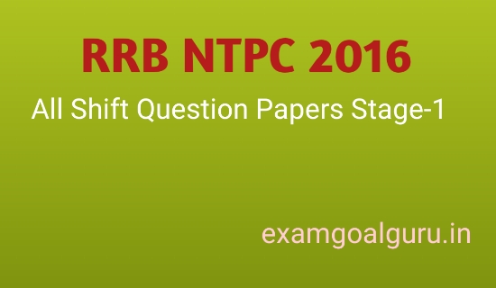 Rrb Ntpc Previous Question Papers Pdf