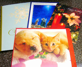 Christmas cards for Operation Christmas Child shoebox gifts