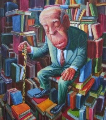 Jorge Luis Borges na Biblioteca