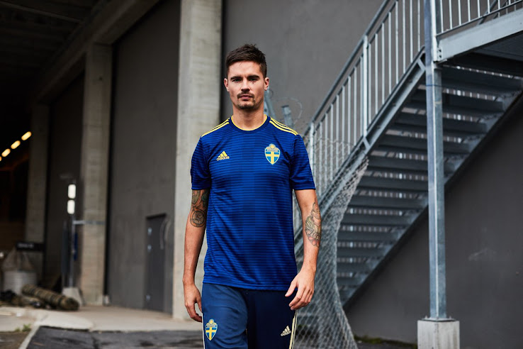 e120a0990ee The Sweden 2018 World Cup away kit introduces a sleek design in blue and  yellow, made by Adidas. It will be debuted in one of the two friendlies at  the end ...