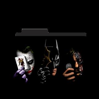 Batman, Joker, Bain Folder Icon