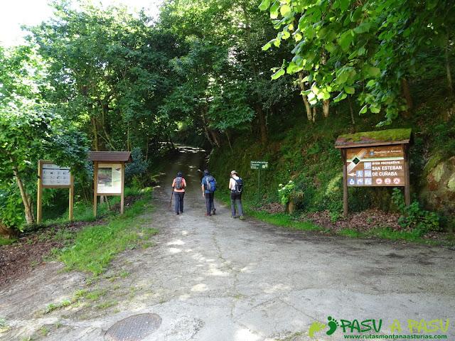 Pasada del Picayo: Inicio de la ruta en San Esteba