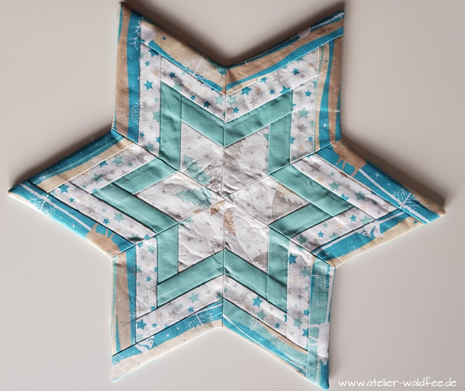 atelier waldfee weihnachts patchwork stern. Black Bedroom Furniture Sets. Home Design Ideas