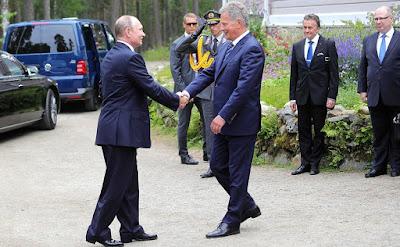 Vladimir Putin arrived in Finland.