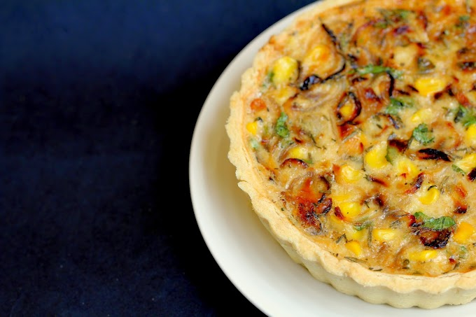 Corn & Tomato Tart - An Entry To The Freedom Tree Baking Contest
