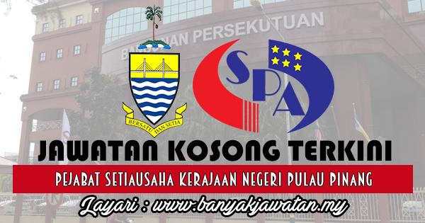 Jawatan Kosong 2017 di Pejabat Setiausaha Kerajaan Negeri Pulau Pinang