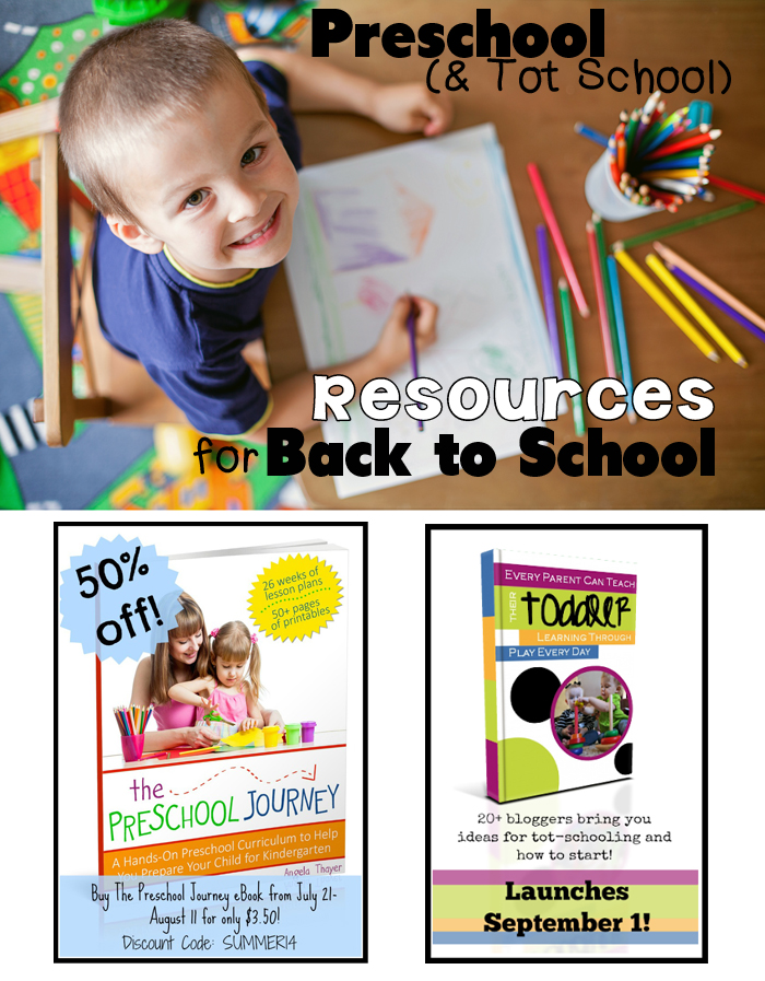 Preschool & Tot School Resources for Back to School