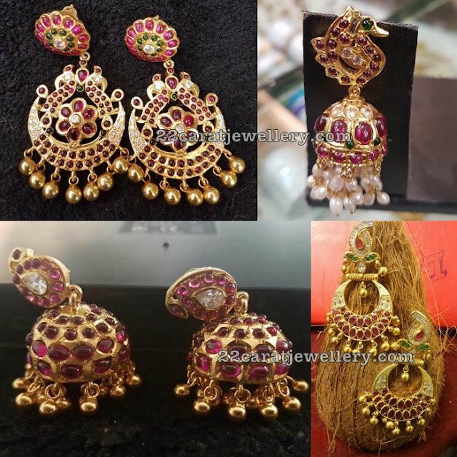 More Ruby Earrings in Silver
