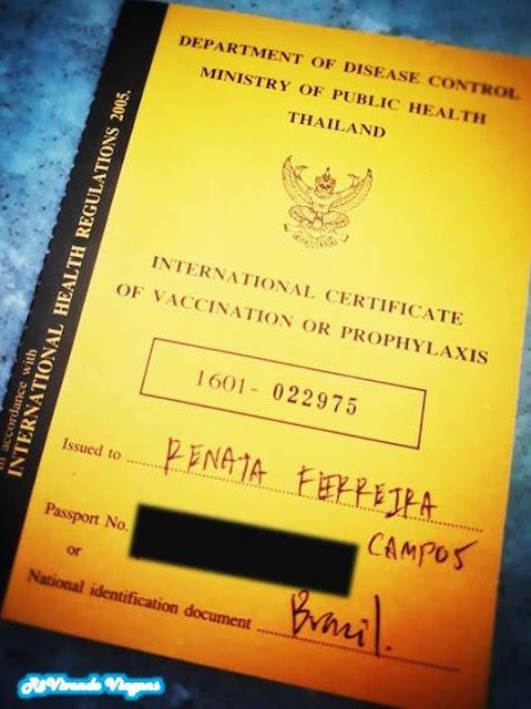 certificado internacional de vacina febre amarela