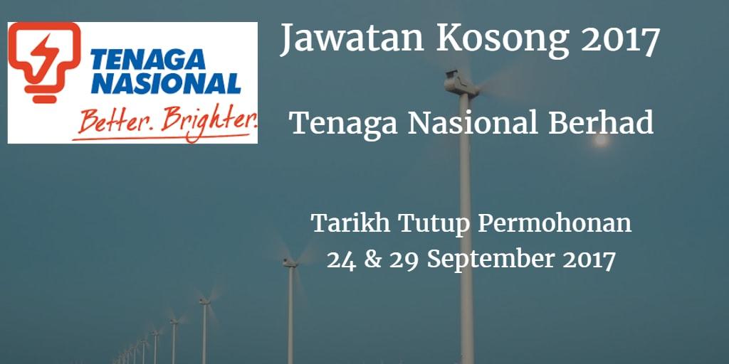 Jawatan Kosong TNB 24 & 29 September 2017
