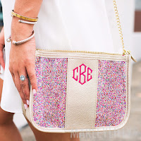 confetti crossbody purse with monogram
