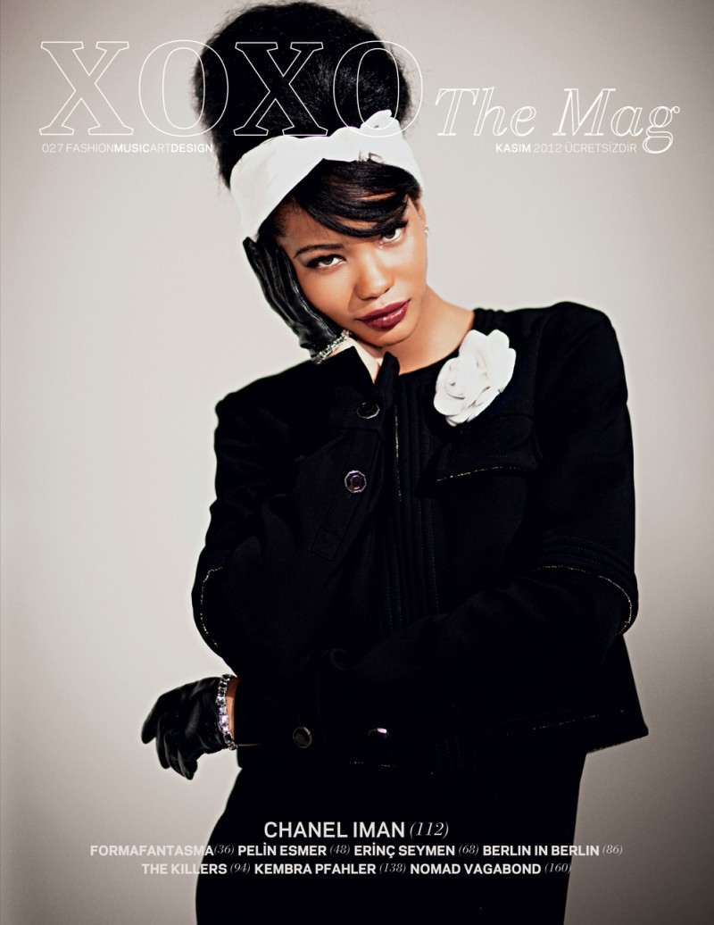 CHANEL IMAN in '60s STYLE for XOXO the MAG'S|Nov 2012