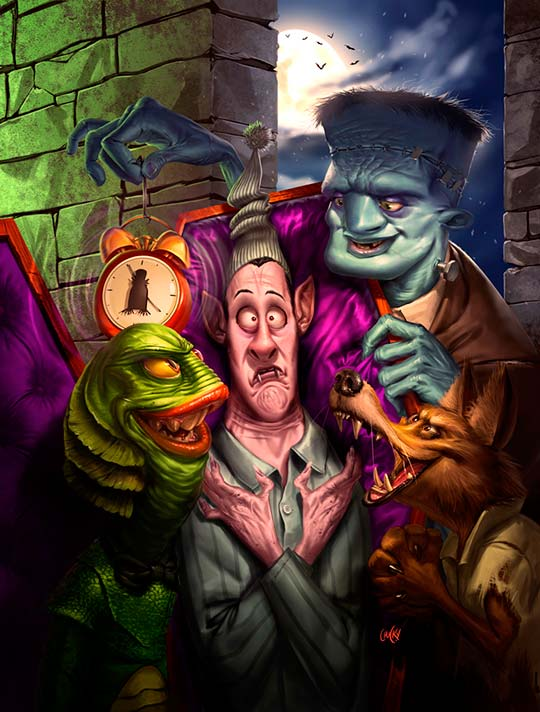 Ilustración y arte digital divertido por Ricardo Chucky