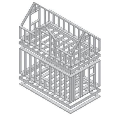 Платформа рамная конструкция с перекрытием - Каркасные дома Волгоград