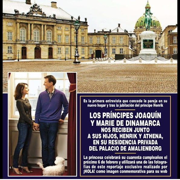 Prince Joachim of Denmark and Princess Marie of Denmark gave an interview to Hola! magazine.