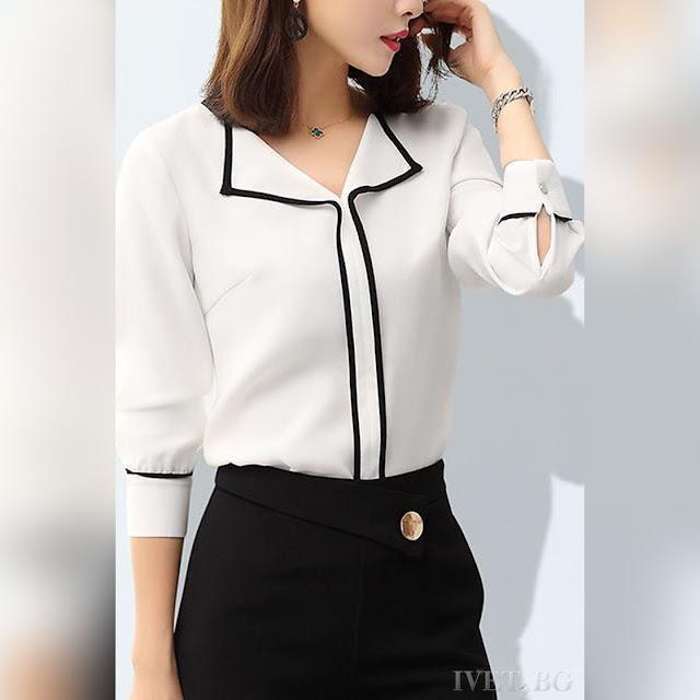 Γυναικείο άσπρο πουκάμισο MARVILO WHITE