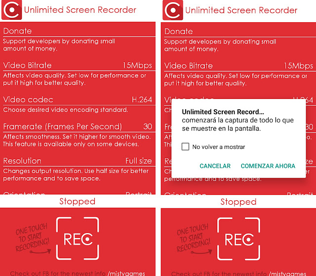 grabar pantalla con Unlimited Screen Recorder