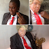 Amazing! Nigerian Makeup Artist Transforms Woman To Donald Trump & Buhari