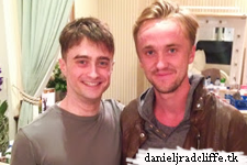 Google+: Tom Felton visits Daniel Radcliffe at The Cripple of Inishmaan