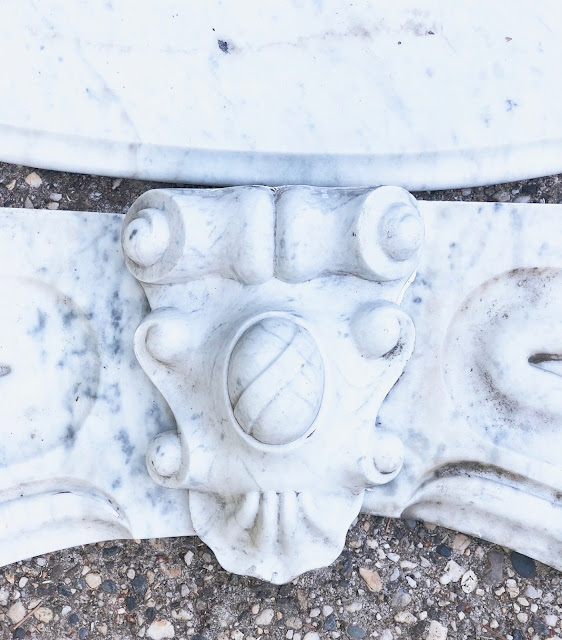Antique Victorian Arched Marble Fireplace- Before