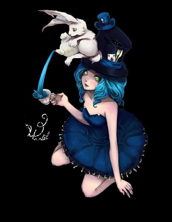 Render Alicia y el conejo blanco