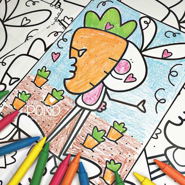 Free Bunny Rabbit Coloring Page | From the Pond
