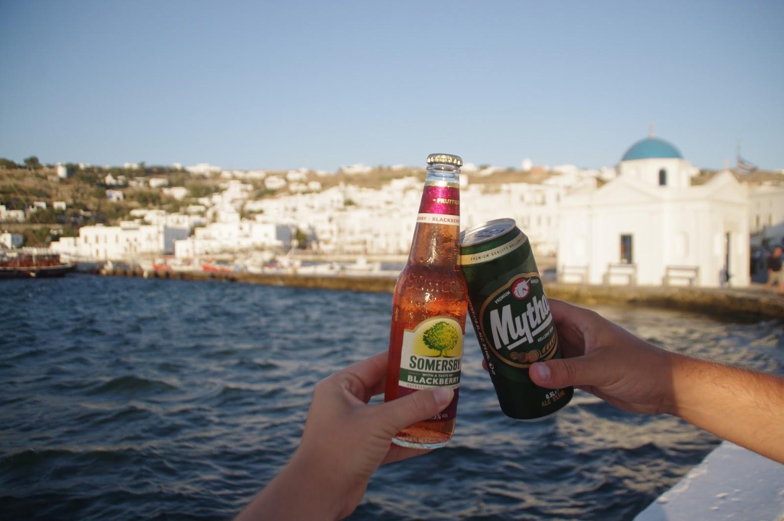Sunset drinks at Mykonos