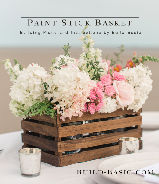 Paint stick basket, DIY basket, farmhouse