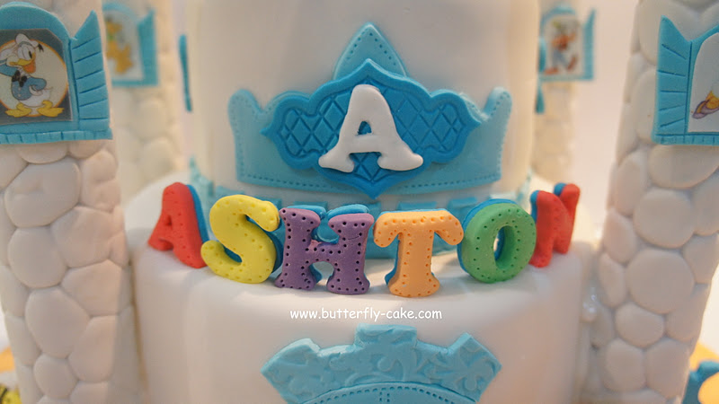 Butterfly Cake Blue Castle Cake For Ashton Mickey Mouse