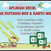 Aplikasi Excel cetak kartu NISN dan Kwitansi Laporan BOS otomatis  2017