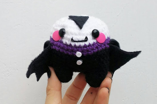 This is an easy to follow Amigurumi Vampire video tutorial. You can watch the videos right here in this post.