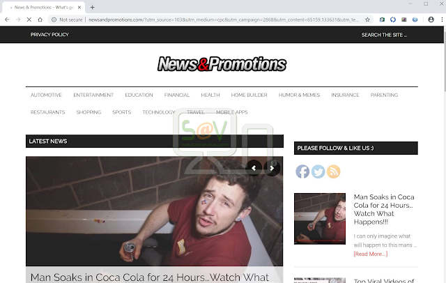 Newsandpromotions.com pop-ups