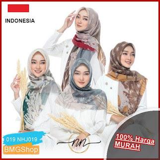 NHJ019 Jilbab Fine Motif Premium Square BMGShop
