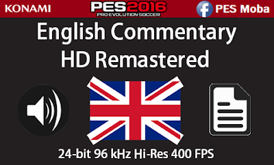 PES 2016 English Commentary + Language HD Remastered