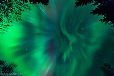 Northern lights corona - Bergen, Norway