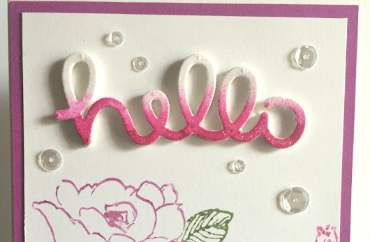 Hello Card - Two Altenew Stamp Sets Used